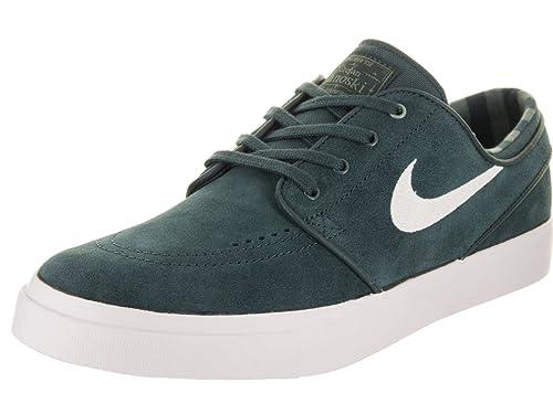 69734bbc12e8 Nike Men s Zoom Stefan Janoski Deep Jungle White Clay Green Skate Shoe 13  Men US  Amazon.in  Shoes   Handbags
