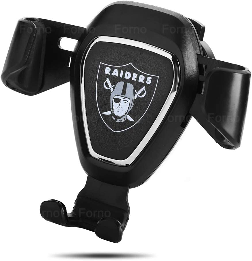 Car Mount Phone Holder Automatic Locking Universal Air Vent GPS Cell Phone Holder for Oakland Raiders (for Oakland Raiders)