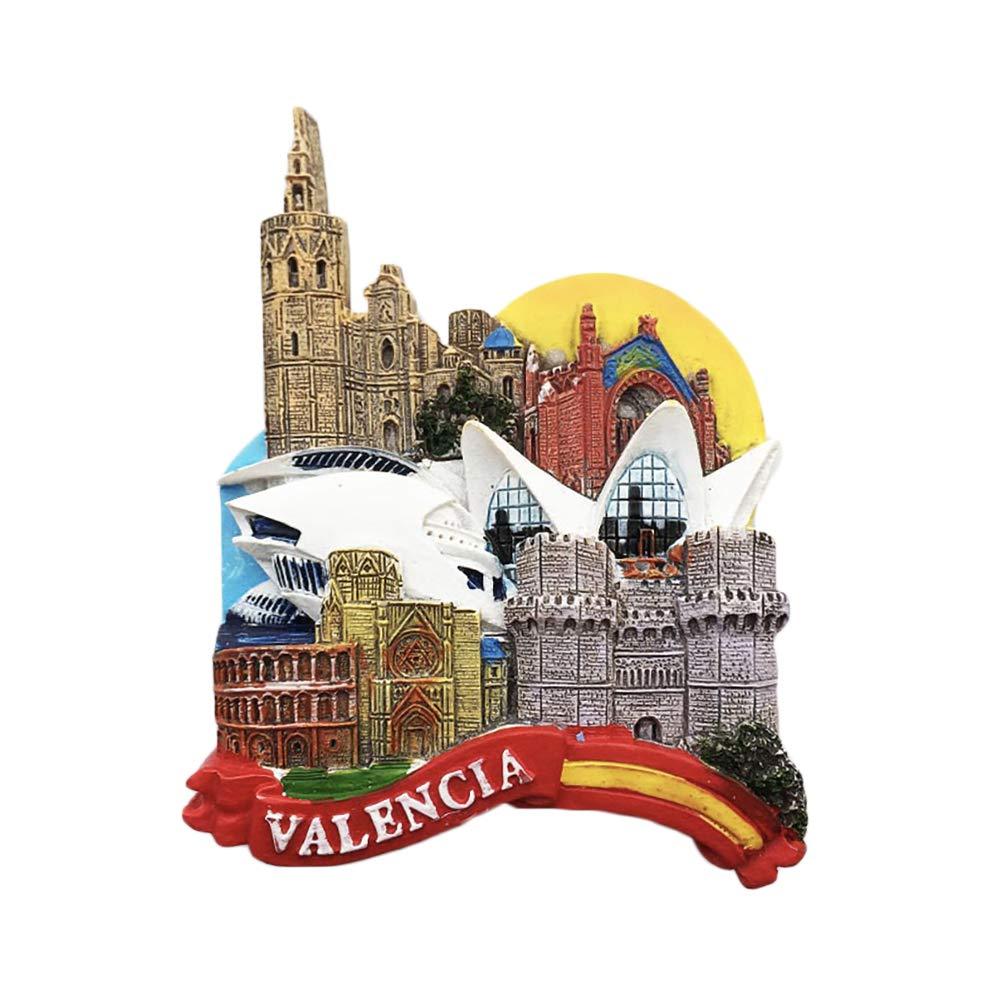 3D Valencia Spagna Frigorifero Magnete Frigo Souvenir turistici Mestiere in Resina Fatti a Mano Adesivi magnetici Casa Cucina Decorazione Regalo di Viaggio