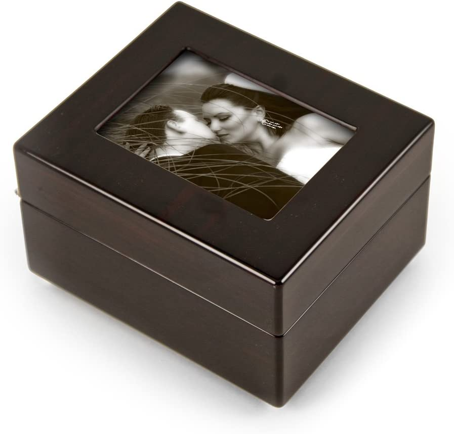 Sleek and Modern 4.5 X 3.5 Photo Frame Musical Jewelry Box - Many Songs to Choose - God Bless The USA (Proud to be an American) Swiss