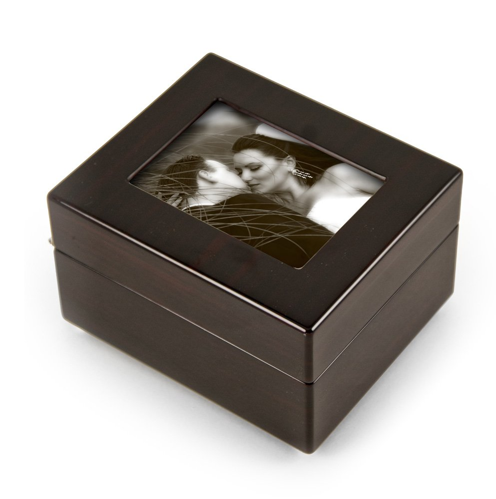 Sleek And Modern 4.5 X 3.5 Photo Frame Musical Jewelry Box - Over 400 Song Choices - Take Me Home Country Roads (John Denver)