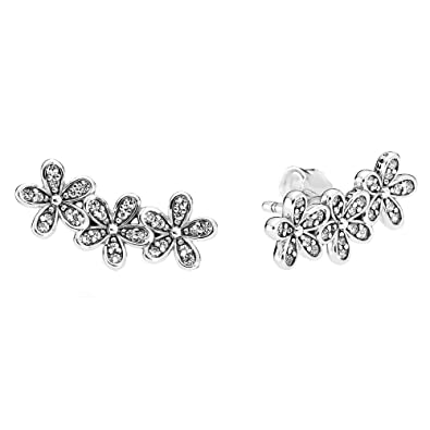 Pandora Women Silver Stud Earrings - 290744CZ tILR2Lvvlh