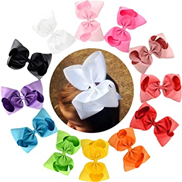 LARGE GIRLS HAIR BOW WITH CLIP HAIR BOBBLES ACCESSORIES FOR GIRLS beauty