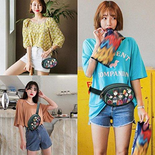 Sac BandoulièRe Trydoit Filles Loisirs Body Oval Femmes Motif à Bourse Bag Cross ForêT Impression 7CqTx7v4w
