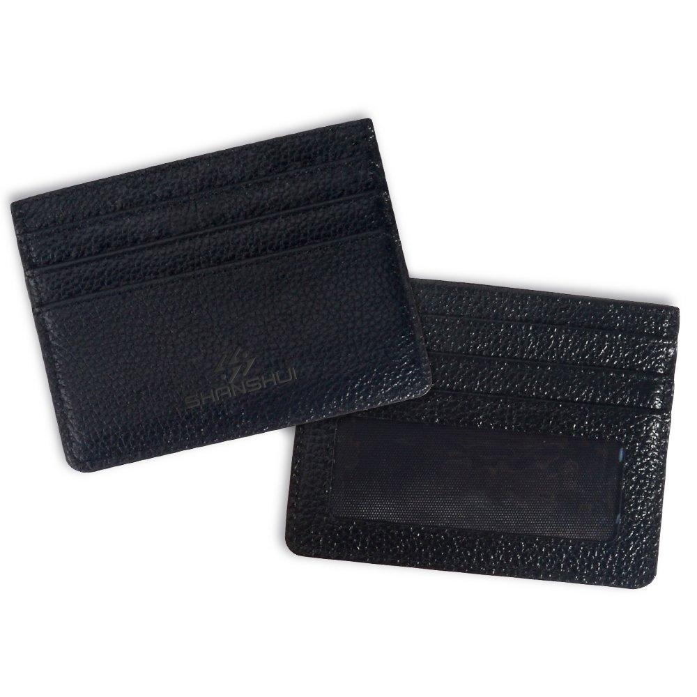 Porte Cartes En Cuir Véritable Shanshui Rfid Blocage Pochette Pour