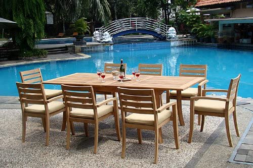 WholesaleTeak New 9 Pc Luxurious Grade-A Teak Dining Set