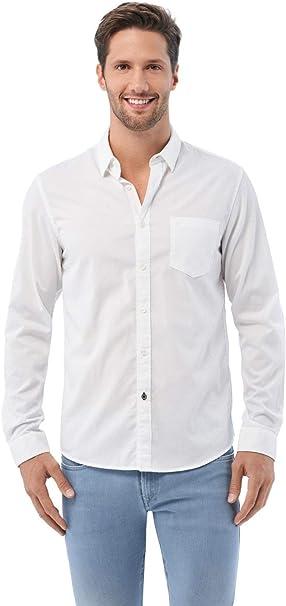 Salsa Camisa Slim fit de algodón: Amazon.es: Ropa y accesorios