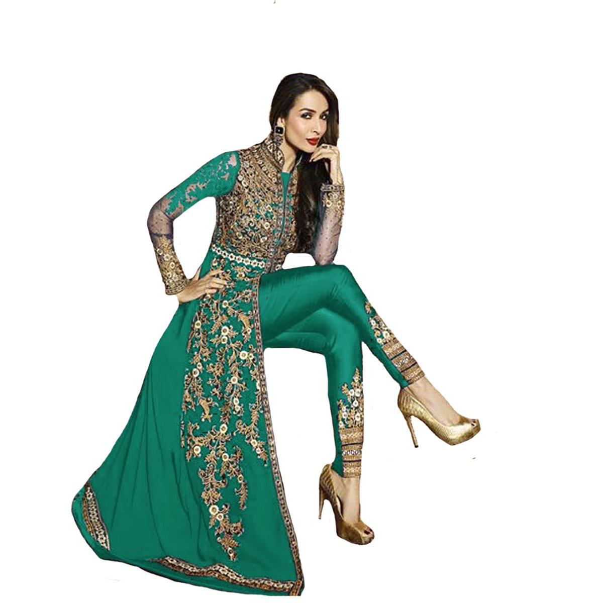 Georgette Party wear Anarkali Salwar Kameez Suit Dupatta Ceremony Hit R