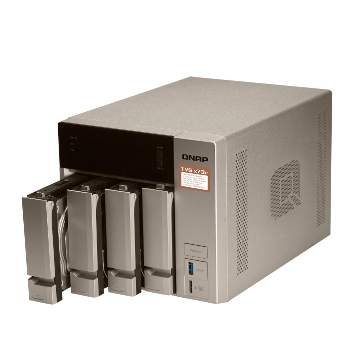 Amazon.com: QNAP TVS-473e-8G-US 4-bay NAS/iSCSI IP-SAN, AMD R series Quad-core 2.1GHz, 8GB RAM, 10G-ready: Computers & Accessories