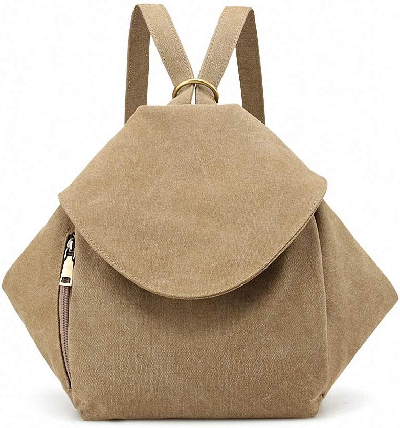 Bag Single shoulder backpack bag three-use casual Double Shoulder bag Khaki