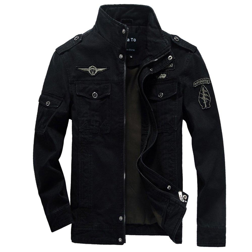 Lega Men's Casual Cotton Coat Bomber Jacket Windbreaker Jacket
