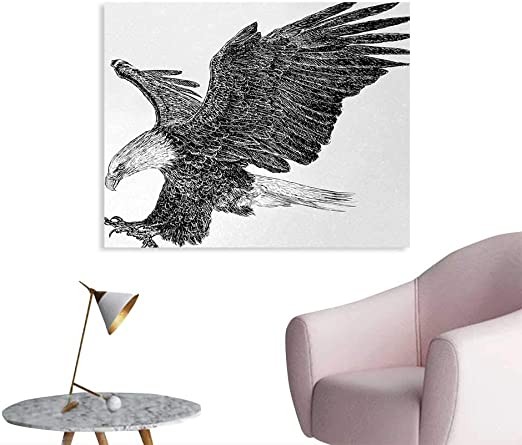 Animal 10x12 FT Photo Backdrops,Bald Eagle Swoop Hand Drawn Sketchy Figure Flying Hunter Wildness Artwork Background for Photography Kids Adult Photo Booth Video Shoot Vinyl Studio Props