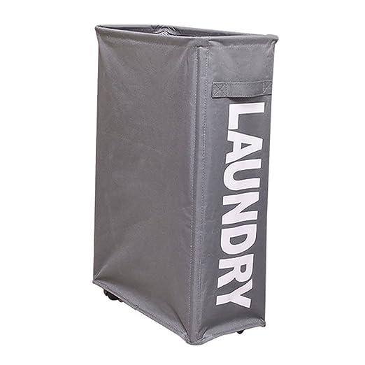 Pantipinky Slim Rolling Cesto de lavandería con soporte Cesta de ...