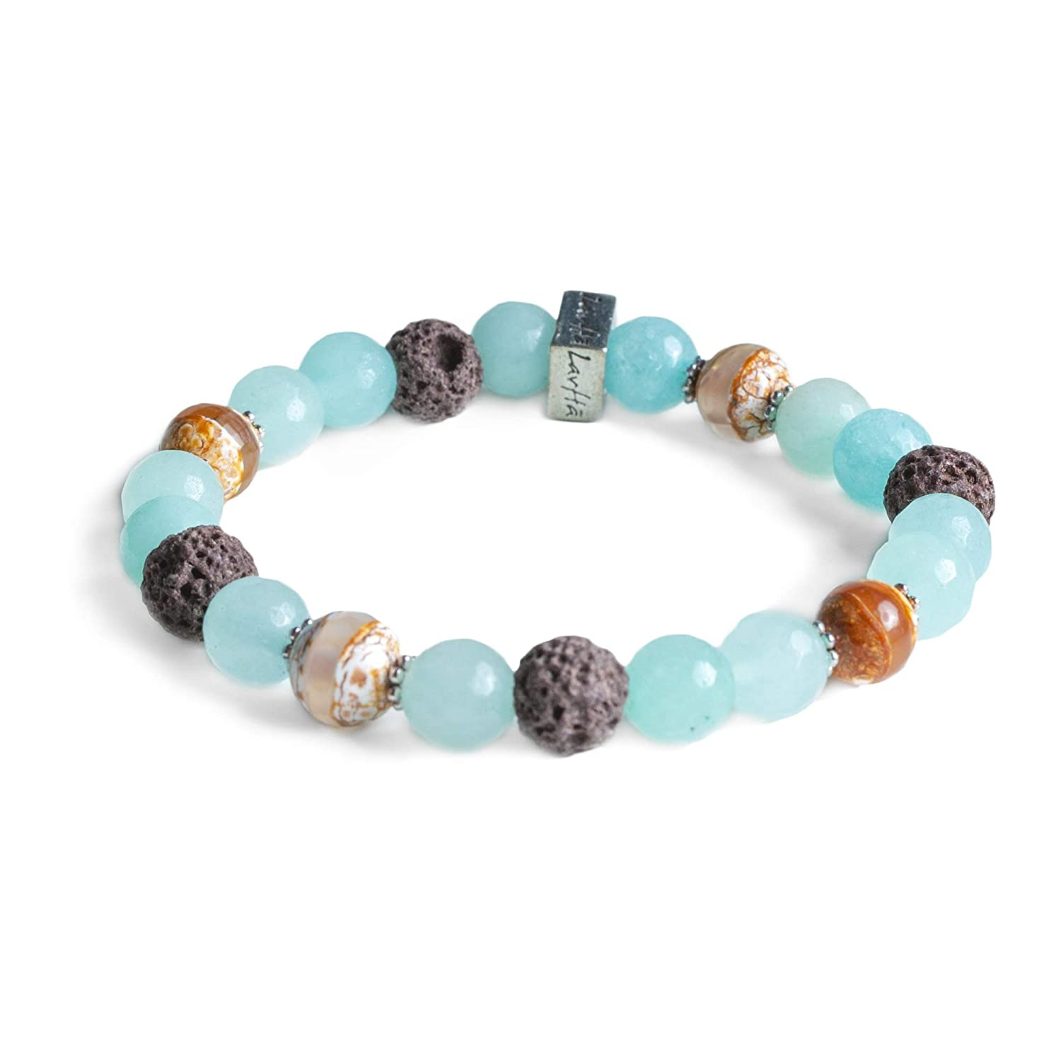 Edens Garden Catalina Essential Oil Lava Bracelet (Best for Diffusion and Aromatherapy Jewelry)