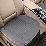 Big Ant Breathable 2pc Car Interior Seat Covers Cushion Pad Mat for Auto Supplies Office Chair with PU Leather(Grey)