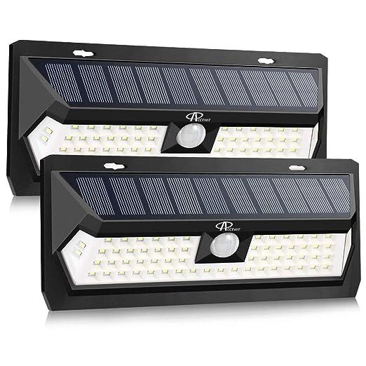 Luz Solar Jardín 62 LEDs, ACCEWIT Lámpara Solar Exteriors 270º Gran Angular Iluminación con Sensor