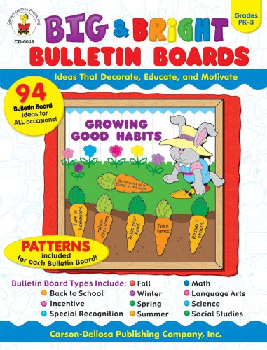 Big & Bright Bulletin Boards, Grades PK - 3: Ideas That Decorate, Educate, and Motivate (Cd Boards Bulletin Bright)