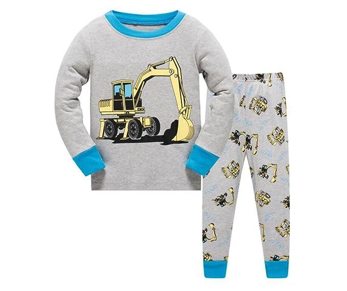 Conjunto de pijamas para niños Conjunto de ropa para niños Niños Pijama de algodón Pijamas para