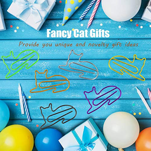 Paper Clips, Cute Cat Shaped Clips, Office Supplies Clips Assorted Colors, Funny Paper Clips for Teacher Notebook Bookmark Decoration,Cat Lover Gifts for Women(60PCS) Photo #7