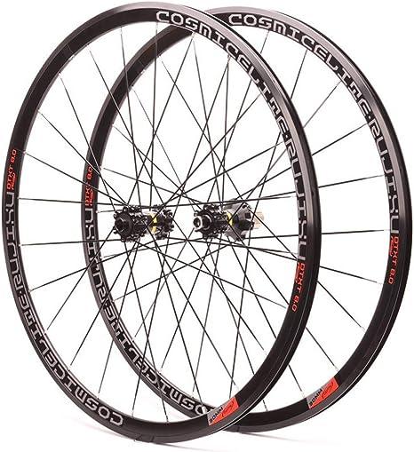 MZPWJD Ruedas Bicicleta Carretera 700C Juego Ruedas Bicicleta Llanta Doble Pared 30mm 24H 7-11 Velocidad Freno Disco/V Casete Cubo 1755g (Color : B-Wheel Set): Amazon.es: Deportes y aire libre