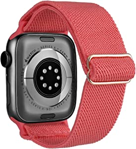 Stretchy Solo Loop Strap Watch Band Compatible with Apple Watch 38mm 40mm,Nylon Solid Color Elastic Watch Band Women Men Strap Wristband Replacement for iWatch Series 6/5/4/3/2/1 SE