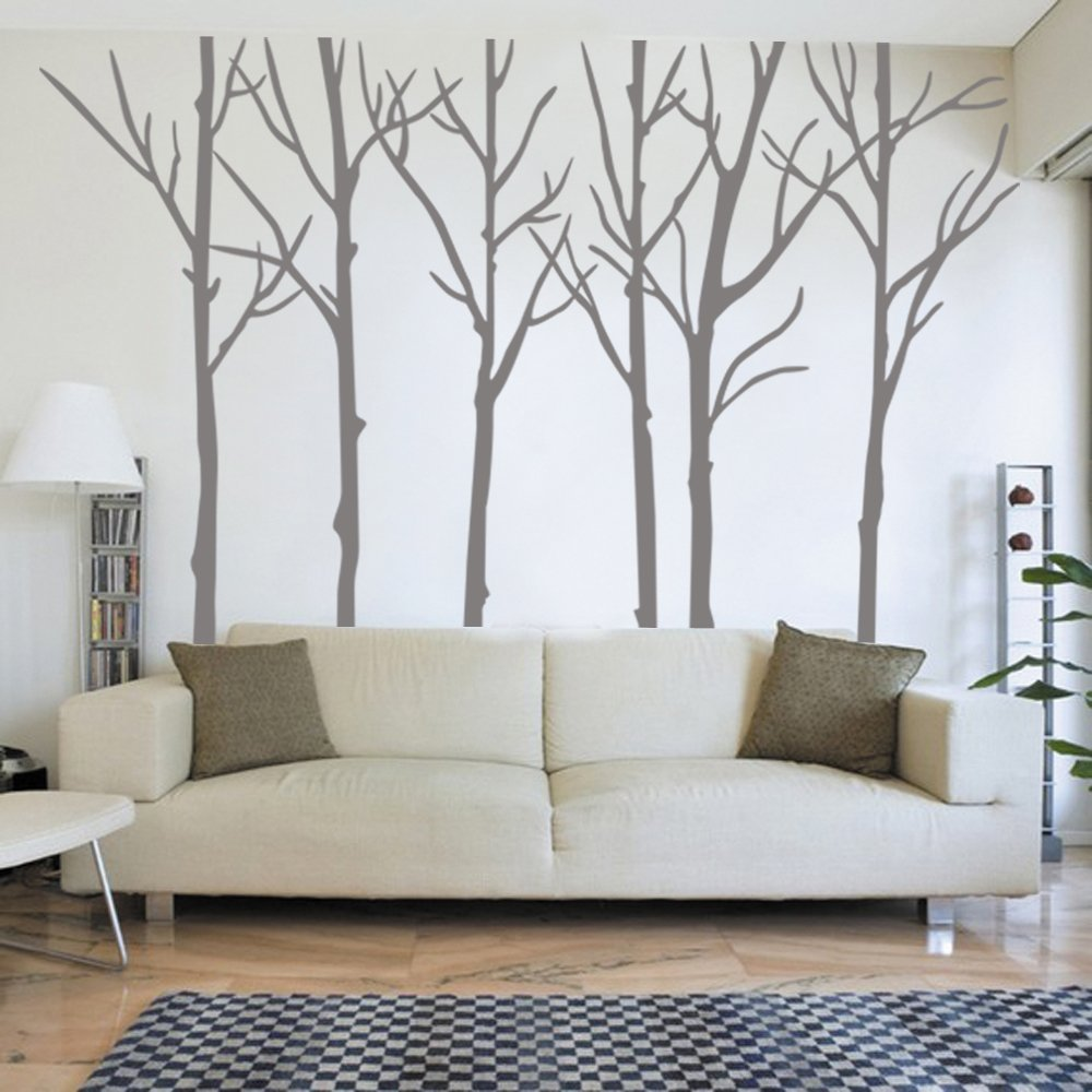 Winter Tree Wall decal - living room wall decals Wall Sticker, Home decor - Wall Decor(8 feet, custom color) by ppty