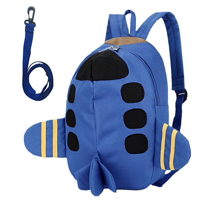 c11b931c57 Beide Toddler Schoolbag 3D Airplane Backpack(blue)
