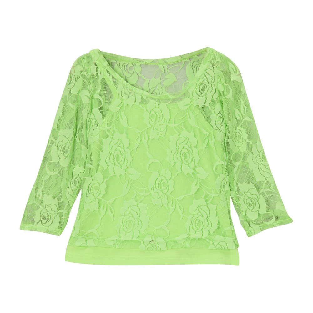 Girls Lace Long Sleeve Tee & Camisole (Choose Color and Size)