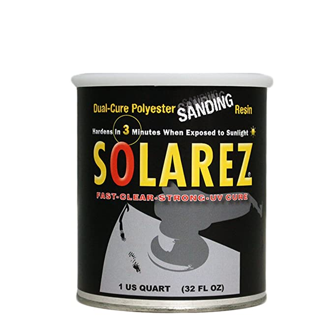 SOLAREZ UV Cure Polyester Sanding Resin ~ for Boat & PWC Repair, Canoes &  Kayaks, Fabrication, Woodworking, Pool, SPA, Tub, Equipment Maintenance,