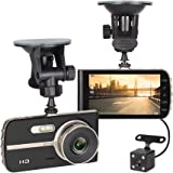 "NEX ECDCG01SD-Bk Dash Camera, FHD 1080P 4"" LCD, Dual Angle Lens"