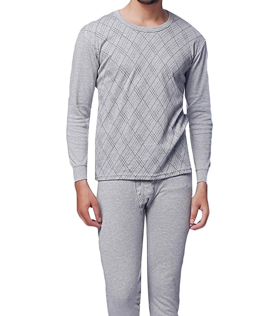 Zimaes-Men Stretchy Cotton 2-Piece Soft Classic Plaid Family Pajama Set