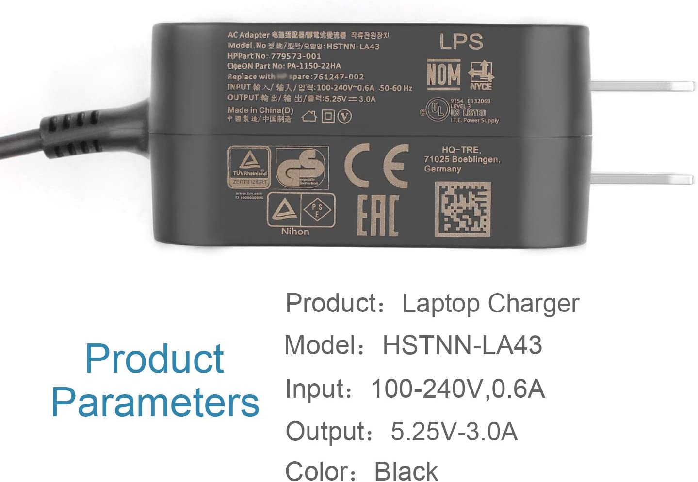 AC Doctor INC Chromebook 11 G1 G2 Charger for HP HSTNN-LA43 PA-1150-22HA 779573-001 761247-002 792619-001 792584-001 Chromebook 11 G1 G2 Micro USB Adapter Charger