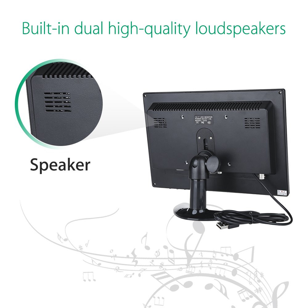 Eyoyo 10 inch IPS Monitor 1920x1200 Resolution Touch Screen Panel Built-in Dual Loudspeakers Support BNC VGA AV HDMI USB Video Input Display For PC Laptop DVR TV Security Camera by Eyoyo (Image #9)