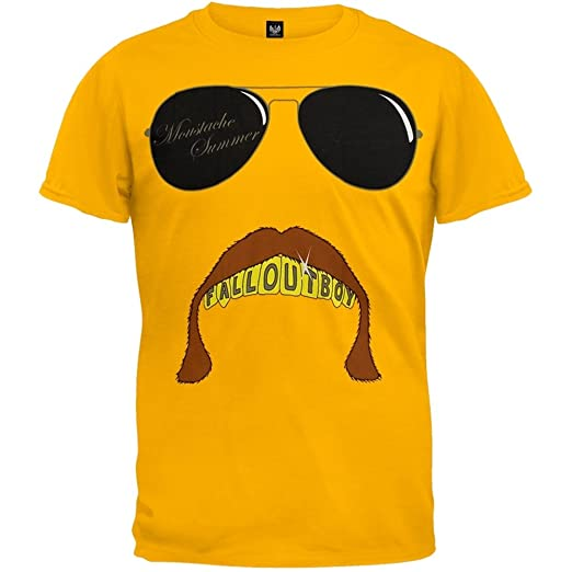 ec7acd4a621d8 Amazon.com: Old Glory Fall Out Boy - Boys Mustache T-shirt Youth ...