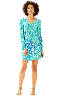 ecab7fc71c92df Lilly Pulitzer Delphine Stretch Silk Tunic Agate Green Lazy River Size Small