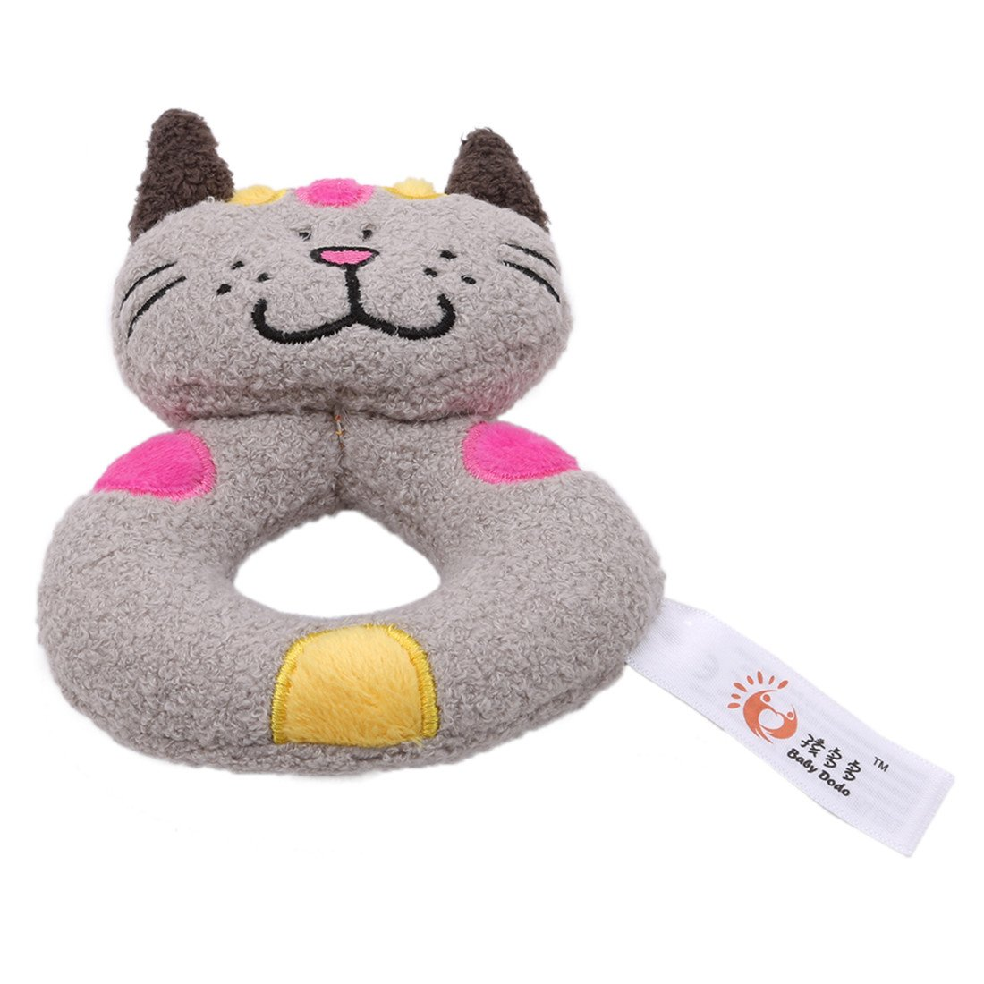 Amazon.com   Edtoy Cute Animal Soft Baby Teething Toys Wrist Rattles and  Foot Finders for Fun Toys (cat)   Baby 292bd2c33740