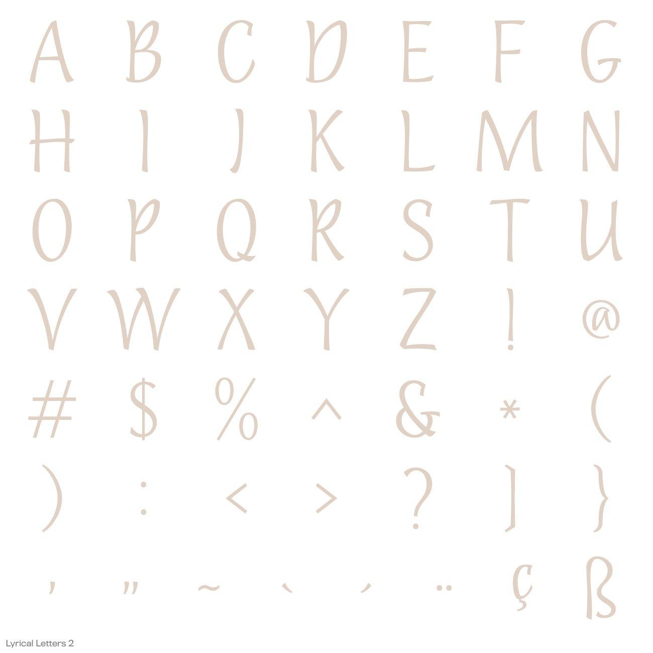 Cricut Lyrical Letters 2 Cartridge by Cricut (Image #17)