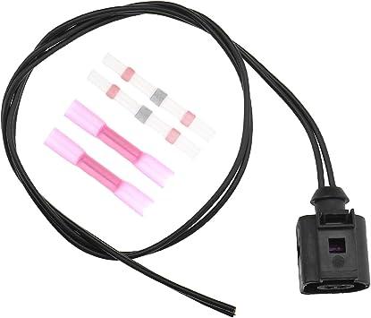 50 Cm 2 Pin Wasserdichte Kabelbaum Stecker Elektrischer Kabelbaum Anschlussklemme Temperatursensor Für Vw Audi A4 A6 A8 Q5 Q7 1j0973702 Baumarkt