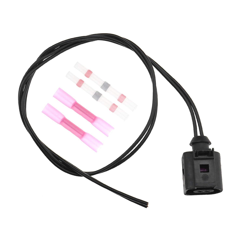 OTOTEC 2 Pines 1J0973702 arn/és el/éctrico Cable Sensor de Temperatura Socket para VW//Audi A4 A6 A8 Q5 Q7 Conector de cableado