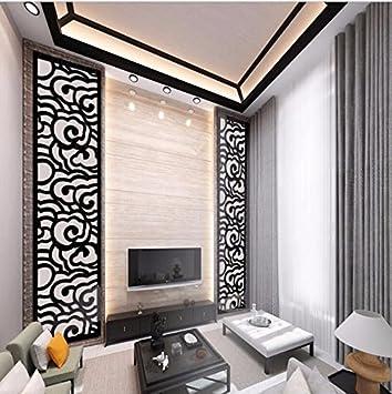 T-Mida Home,3D Acryl Wohnzimmer Terrasse TV Hintergrundwand und ...