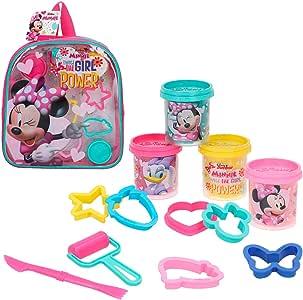 Disney - Kit mochila Minnie con 4 botes plastilina de 57 g y accesorios (77189): Amazon.es: Juguetes y juegos
