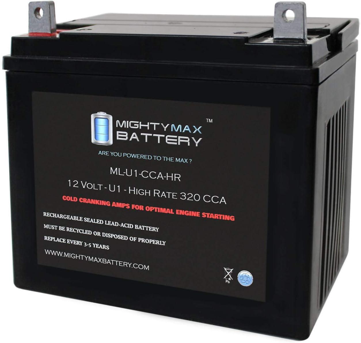 Mighty Max Battery ML-U1-CCAHR 12V 320CCA Battery