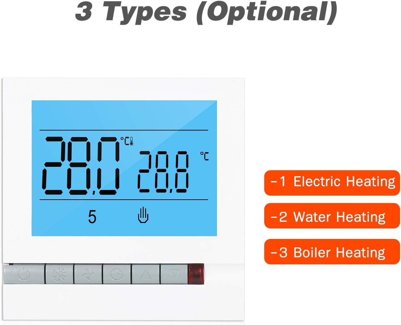 Kecheer Termostato suelo radiante electrico programable,Termostato wifi calefaccion para suelo radiante electrico,Termostatos calefaccion con retroiluminaci/ón