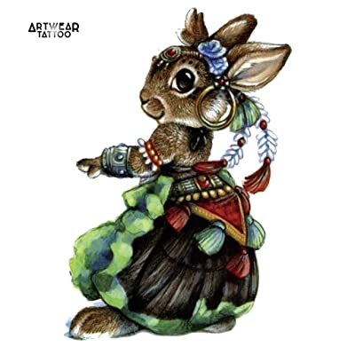 "Tatouage Temporaire ""Gipsy Rabbit"" - ArtWear Tattoo - B0357 M"