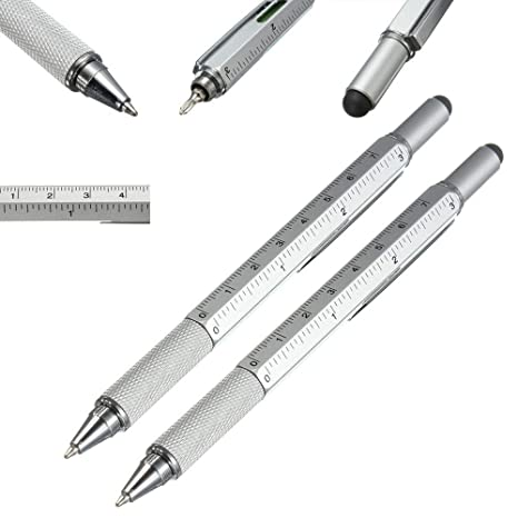 Level Multi-function Ball Point Screwdriver Level Ruler Pen Touch Screen Tool