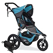 BOB Revolution Flex Jogging Stroller, Lagoon with Handlebar Console and Tire Pump