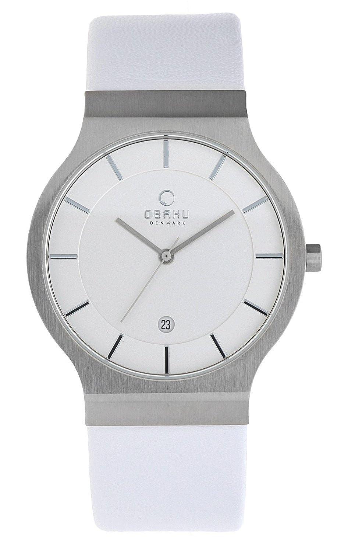 a61a3d5c1841 Obaku Hombre Reloj de pulsera Blanco v133gcirw1  Amazon.es  Relojes
