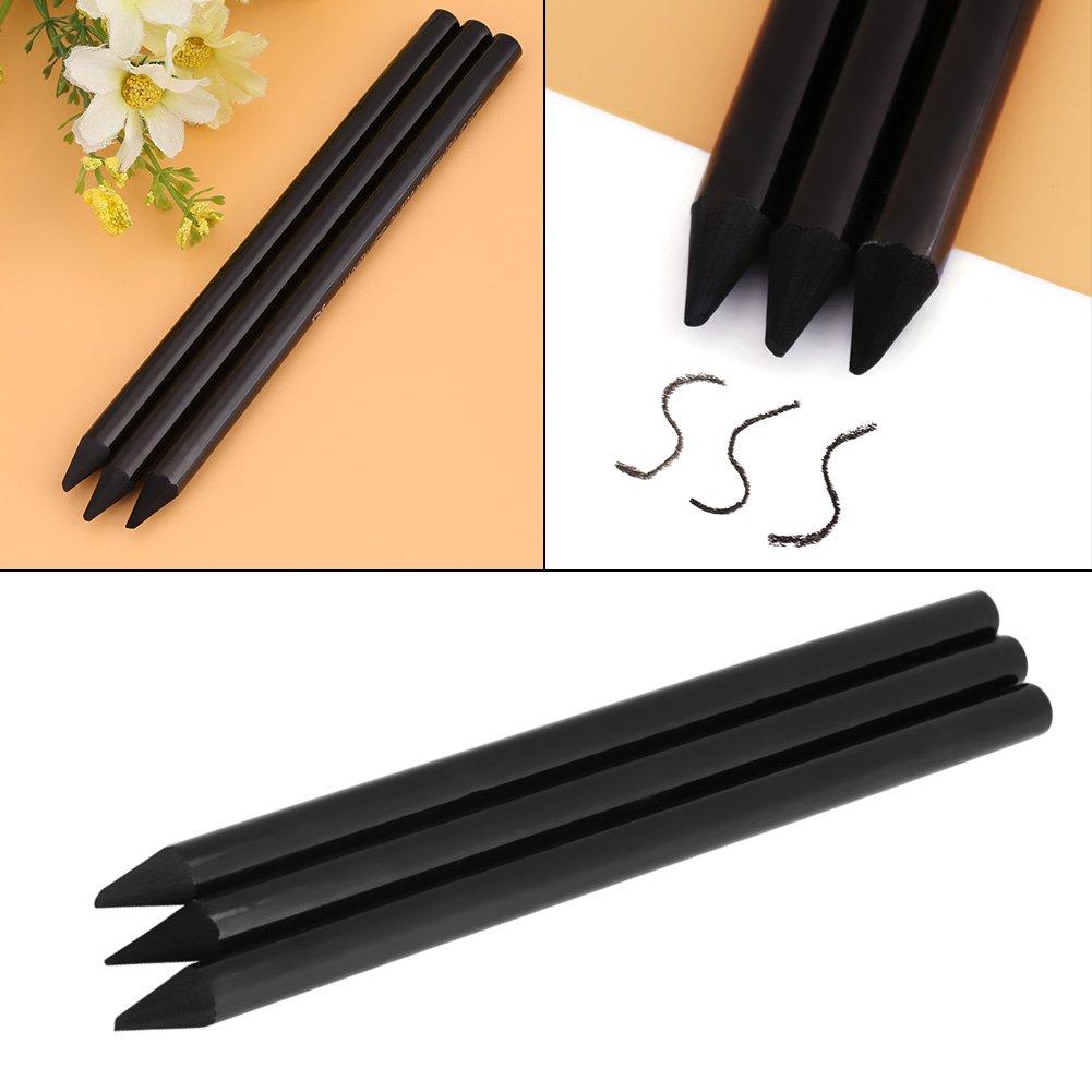 3pcs//set Set de L/áPices de Carboncillo Palos Sin Madera Materiales de Dibujo Para Dibujos Impresionantes Negro
