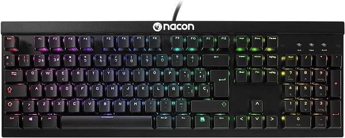 Nacon PCCL-700OMSP - Teclado óptico-mecánico para Videojuegos, Color Negro