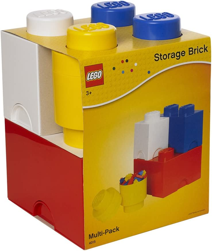 Room Copenhagen 40150001 Multipack de Ladrillos de Almacenamiento de Lego, Largo. Cajas de almacenaje apilables. Conjunto de 4 Piezas, Multicolor, One Size: Amazon.es: Hogar